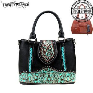 Trinity Ranch Tooled Leather Satchel/Crossbody